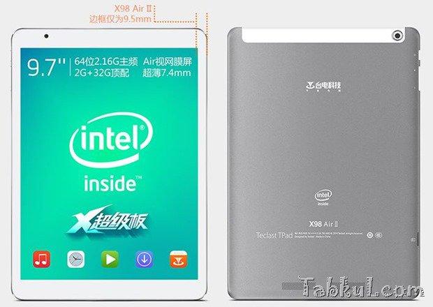 約1.76万円のRetina/2.16GHz『TECLAST X98 Air II』発表―Android/Windows対応、「HP 10 Plus」とスペック比較