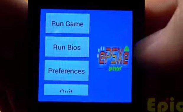 スマートウォッチでプレステ!エミュレータ「ePSXe」の動作動画―Android Wear