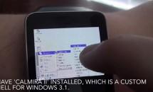 『Windows 3.1』をAndroid Wear搭載スマートウォッチで起動する動画、エミュレータ「DOSBox」で実現