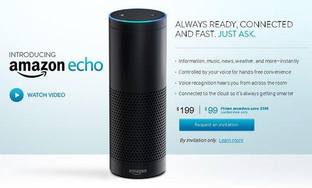 音声アシスタント搭載スピーカー『Amazon Echo』発表、ノークリック注文への布石か
