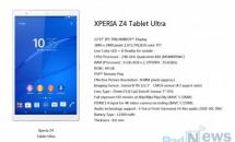 12.9型『Sony Xperia Z4 Tablet Ultra』のスペックがリークか
