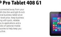 8型ペン対応『HP Pro Tablet 408 G1』がFCC通過、スペックなど―Windowsタブレット