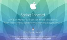 Apple、3/9スペシャルイベント「Spring Forward」開催/日本時間10日2時~ライブ中継あり