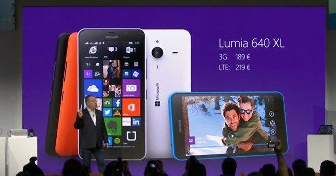 Microsoft、5.7型Windows『Lumia 640 XL』発表/スペックと価格、対応バンド #MWC2015