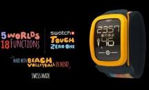 スウォッチ、スマートウォッチ『Swatch Touch Zero One』発表/ビーチバレー機能を搭載