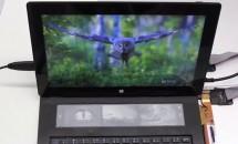 Microsoft、e-ink搭載キーボード『DisplayCover』試作機の動画を公開―タスクバーやスタートメニューの機能など