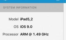 iPad mini 4、1.5GHz A8チップにRAM 2GB搭載と判明―ベンチマークスコアの旧モデル比較も