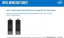 Intel、USB増設したCore m3/m5版スティックPC『Compute Stick』発表―価格・発売日