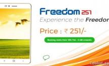 価格500円以下のスマートフォン4型『Freedom 251』登場、スペック