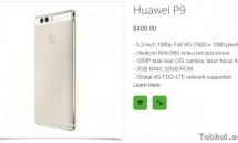 Huawei P9/P9 Max/P9 Liteのスペックと価格が判明、対応周波数・バンド