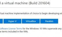 Microsoft、評価用「Windows 10 Enterprise+最新の開発環境プリイン」仮想マシンを提供開始―Macでも利用可