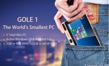 僅か5インチのデュアルOSな小型PC『GOLE1』登場、価格は79ドル~スペック