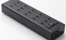 エレコム、同時に15台を急速充電できるUSBハブ『U2HS-T15SBK』と10台版『U2HS-T10SBK』発表