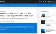 『Windows 10』アクティブ端末が3億台を突破、無償アップグレードは7/29まで