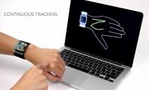 指輪とスマートウォッチで腕をタッチパネル化『SkinTrack』の動画公開
