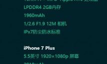 iPhone 7 / 7 Plus のスペックがリークか、防水IPX7仕様とも