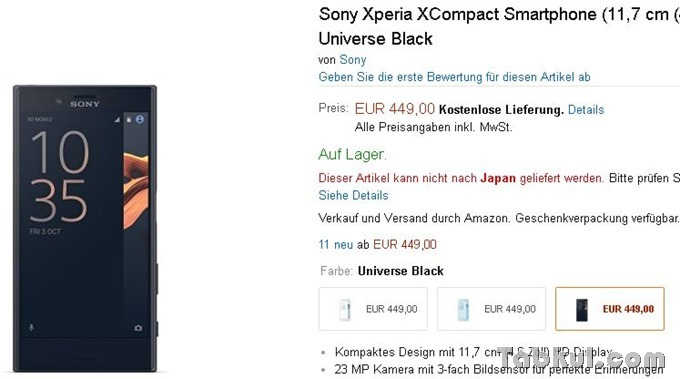 Sony-Xperia-X-Compact-amazon.de