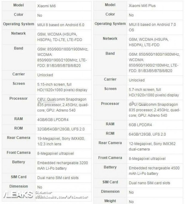 Xiaomi-Mi-6-Mi-6-Plus-Spec-sheet