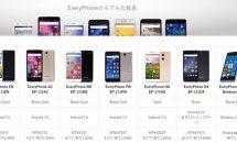 ヤマダ電機、9,980円からのスマホ『Every Phone』シリーズ6機種を発売/スペック・価格