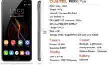 大容量6080mAhバッテリー5.5型『Oukitel K6000 Plus』が2万円以下に、USBケーブル20%OFFクーポンあり―Banggoodセール