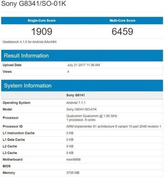 Sony-G8341-Geekbench