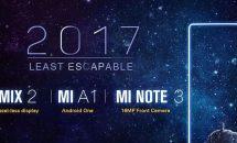 本日発表、Xiaomiのベゼルレス『Mi MIX2』や顔認証『Mi Note 3』などがGeekbuyingで予約クーポン配布中