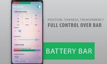 通知バーの背景に電池残量を表示『バッテリーバー』などが0円に、Androidアプリ無料セール 2017/11/23