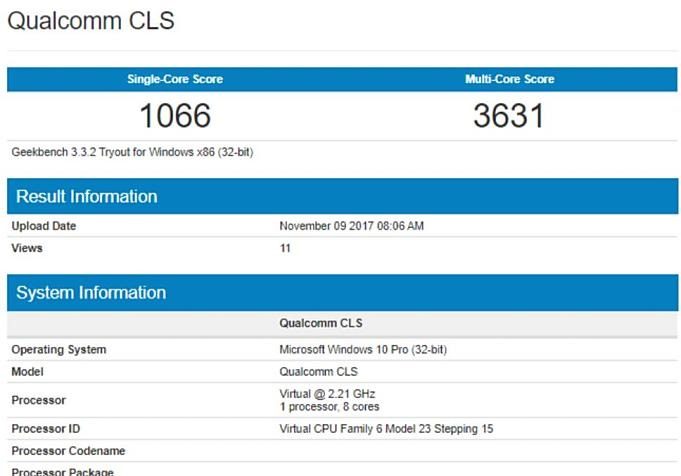 Qualcomm-CLS-Geekbench