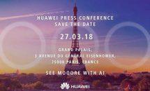 Huawei、パリで3月27日にプレスカンファレンス開催―Huawei P20シリーズ発表へ