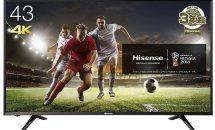 (終了)4/20限り、ハイセンス43V型4K液晶テレビなどが値下げ中―Amazonタイムセール
