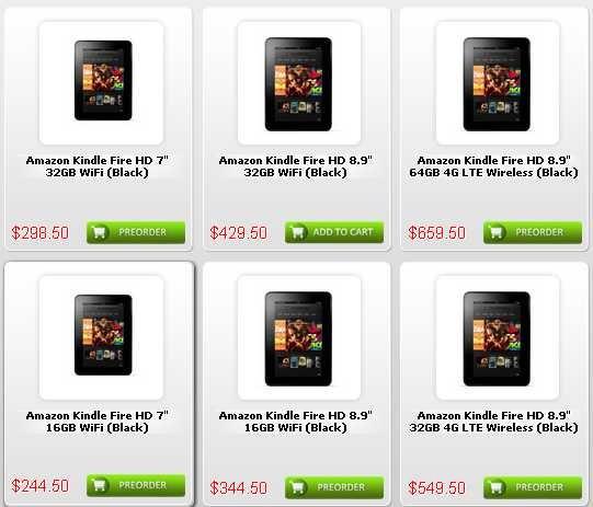 32GBモデルも予約開始、Amazon Kindle Fire HD は約23,000円~