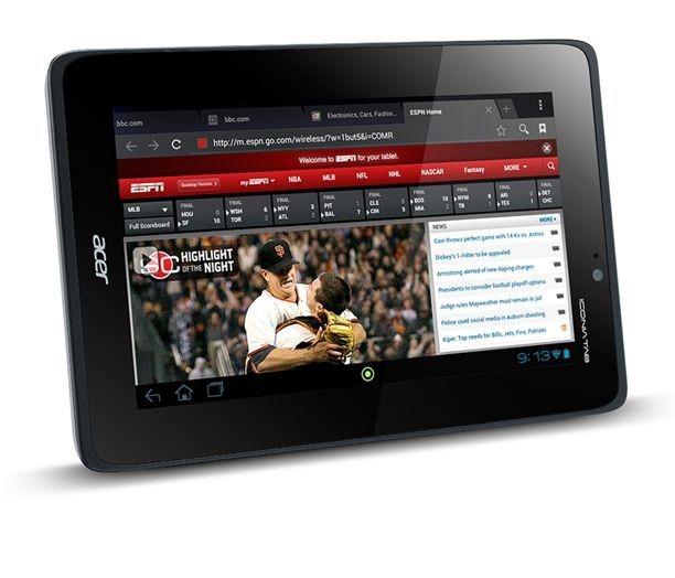 7インチ / クアッドコア / microSD / HDMI 「Acer Iconia Tab A110」は、約1.8万円で10/30発売開始