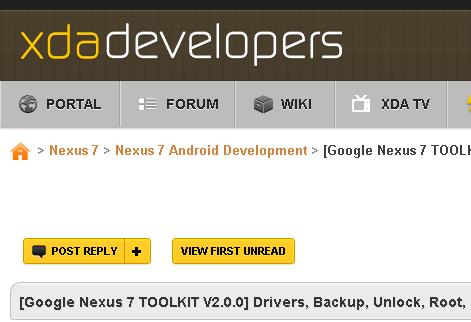 Nexus 7 購入レビュー | root化 vol.1 – Nexus7 Toolkitとドライバーのインストール