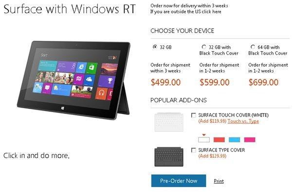 完売!マイクロソフト「Surface」の予約分が売り切れに