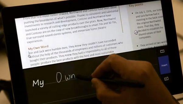 Windows 8 で「OneNote」を指やペンで操作している動画が公開中