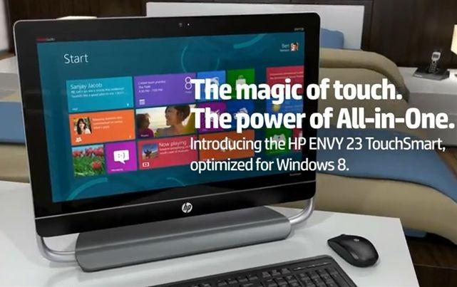 3波ダブル地デジ / Win8タッチ対応 「HP ENVY 20 TouchSmart」は 77,280円~