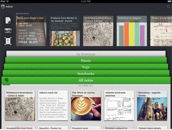 iOS向けの「Evernote 5」がリリース、インストールしてみた(動画)