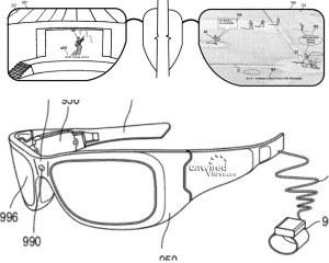 米Microsoft、メガネ型デバイス「Google Glass似」の特許を申請