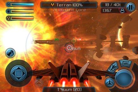 本格シューティング iOS アプリ「Galaxy on Fire 2」が無料セール中