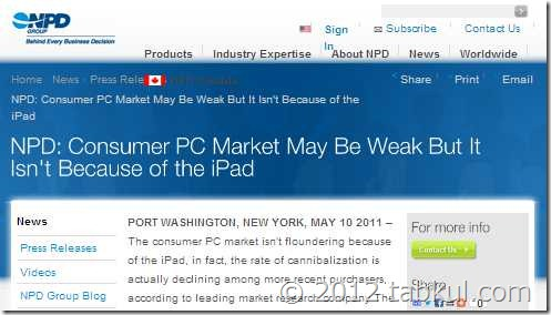 Windows 搭載PC、直近1ヶ月の販売21%減へ