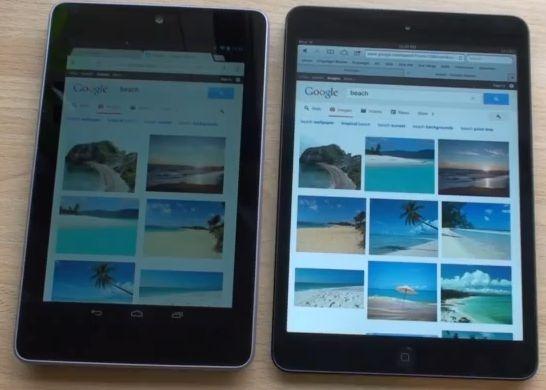 Nexus 7 vs iPad mini の比較動画、と感想。