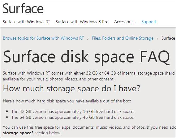 MicrosoftタブレットPC 「Surface」 32GB版の空き容量は16GB、、、で訴訟