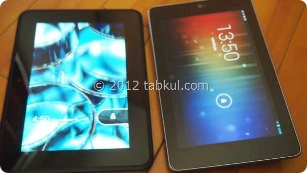Kindle Fire HD 購入レビュー02 | Nexus 7 とのサイズ比較(画面が小さく見える理由)