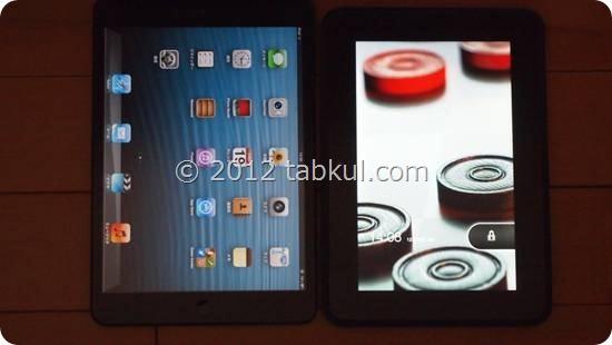 Kindle Fire HD 購入レビュー04 | iPad mini と比較、画面の広さ と サイズ、厚みほか
