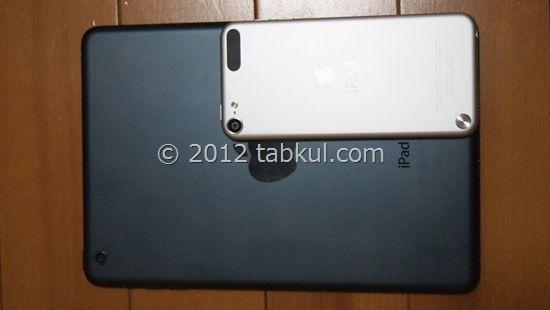 iPad mini 購入レビュー07 | iPod touch とサイズ等を比較する