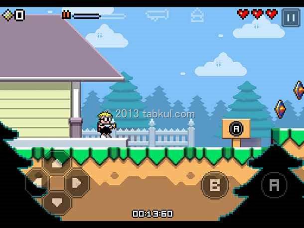難しいアクションゲーム「Mutant Mudds」の試用レビュー / iOSアプリ