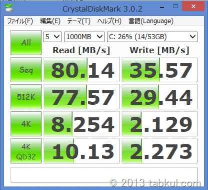 Latitude 10 レビュー07 | HDDベンチマーク結果、他のWin8PCと比較