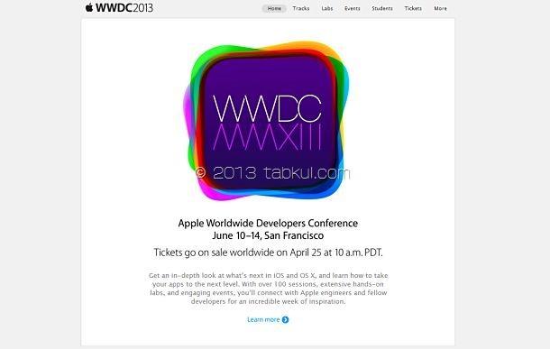 Appleの「WWDC 2013」は6/10~14開催、次期 iOS / OS X を発表へ