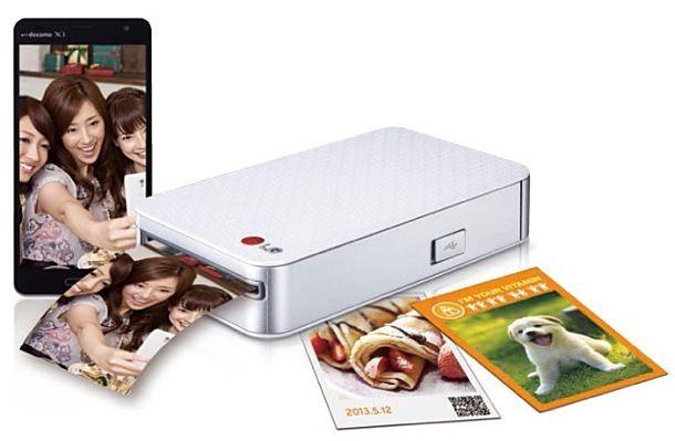 LG、モバイルフォトプリンター「Pocket photo PD233」を6月上旬発売へ