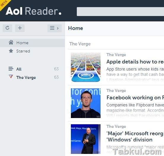 「AOL Reader」ベータ版に登録してみた
